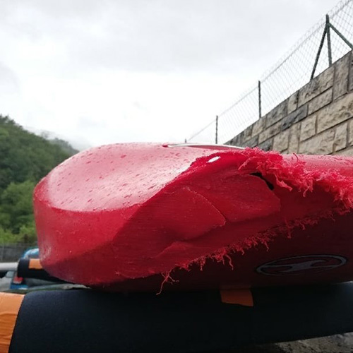 reparation bateau canoe kayak pau plastique trou